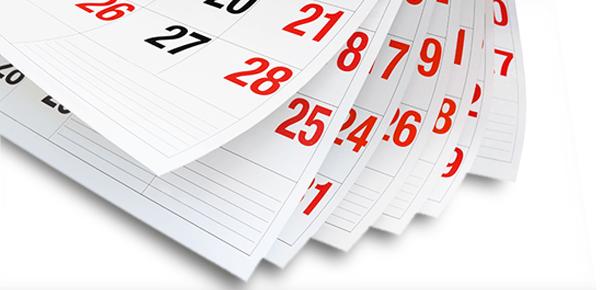 Calendari da parete trittici